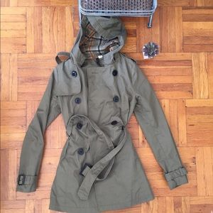 H&M Olive Trench Coat